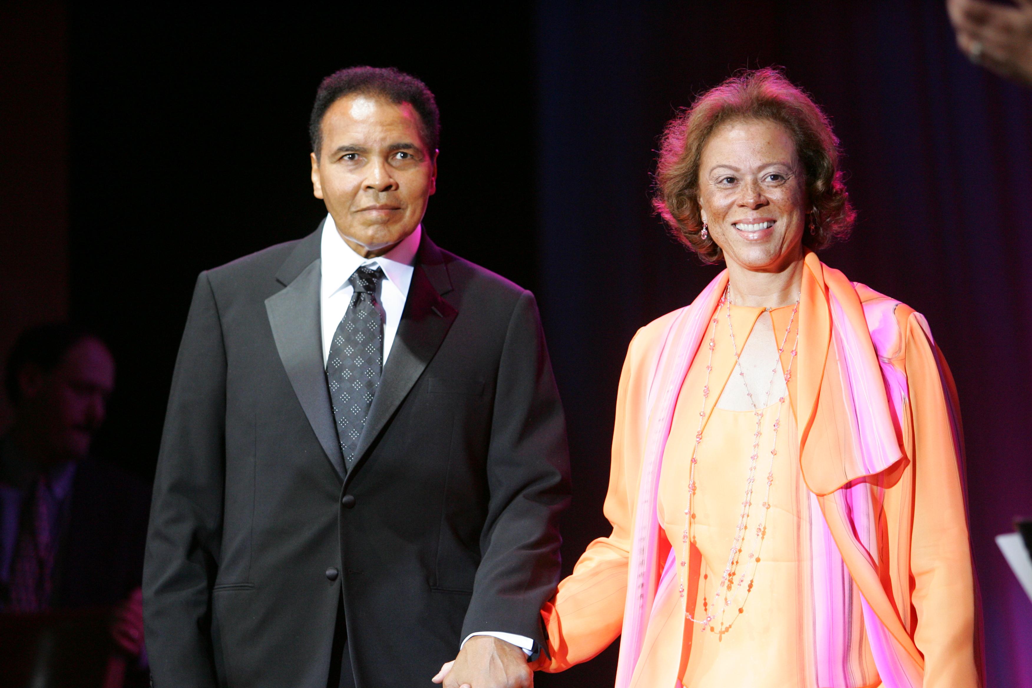 Muhammad Ali with gracious, friendly, kind, Wife Yolonda Williams
