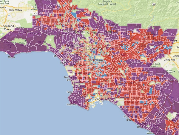 Bad Areas Of Los Angeles Map.La S New Economic Geography Ucla Real Estate Wire
