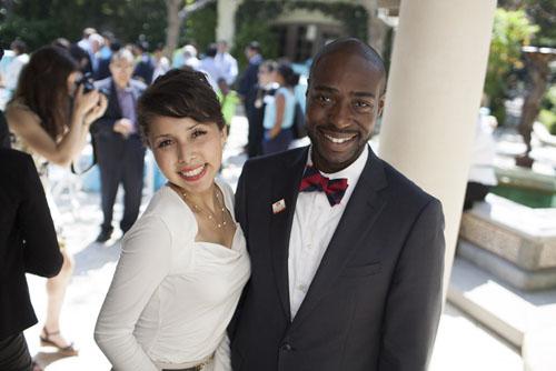 The Riordan Programs graduation reception was held at Mayor Riordan's residence.