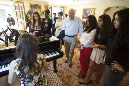 The Riordan Programs graduation reception was held at Mayor Riordan's residence.