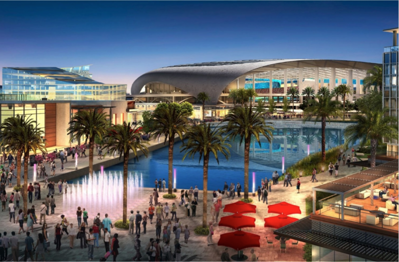 Proposed Inglewood stadium rendering
