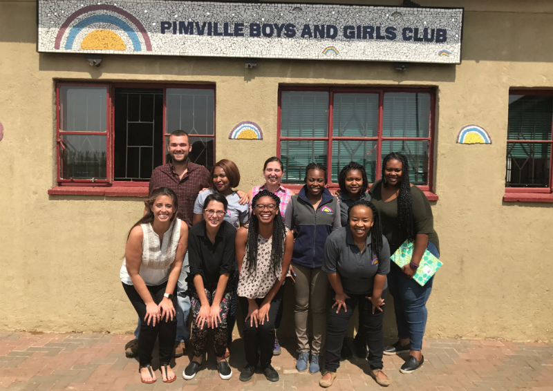 UCLA Anderson Global Access Program Team, Boys & Girls Club of Pimville, South Africa