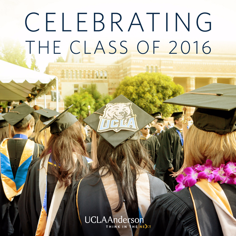 UCLA Anderson MBA commencement 2016