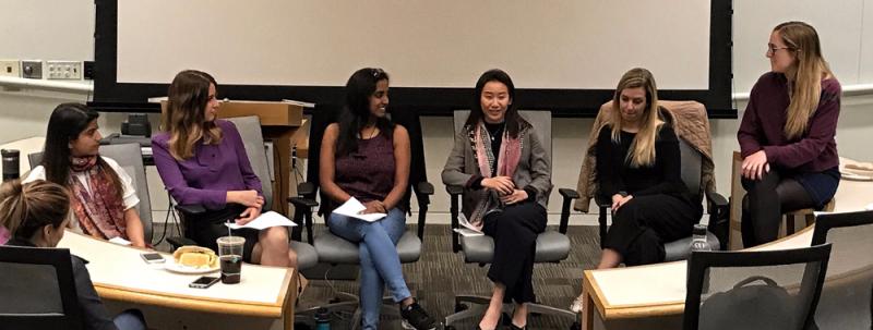 UCLA Anderson MBA students Sweksha Tripathi ('19), Alina Karimova ('18), Vasiya Krishnan ('18), Chenjie Ding ('19), Giovanna Santos Chapini ('19), Kayla Carpenter ('19)