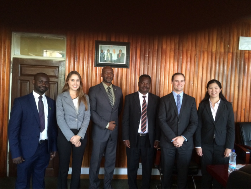 UCLA Anderson students meeting with the Zambia Development Agency