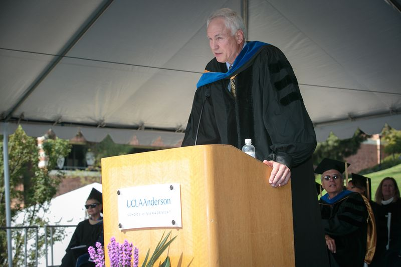 Mitch Kupchak '87 at Anderson Commencement