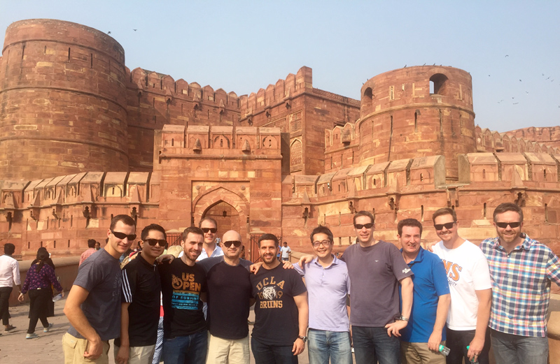 UCLA Anderson GEMBA Robert Luna Red Fort Delhi India